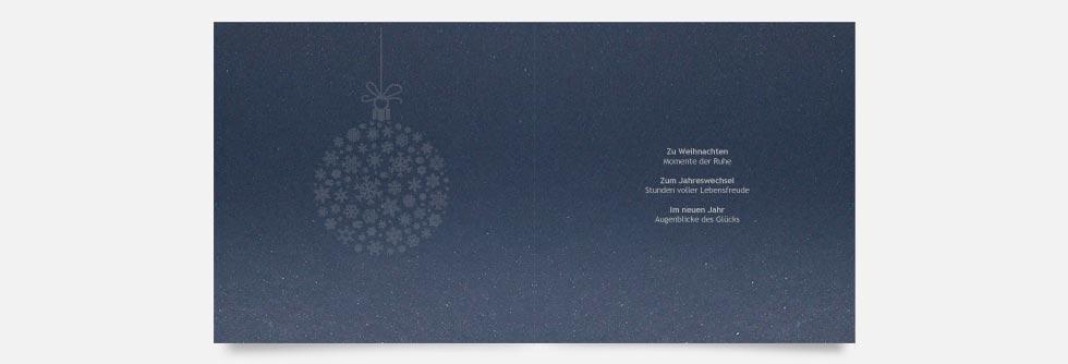 Melius: Weihnachtskarte auf irisierendem Papier