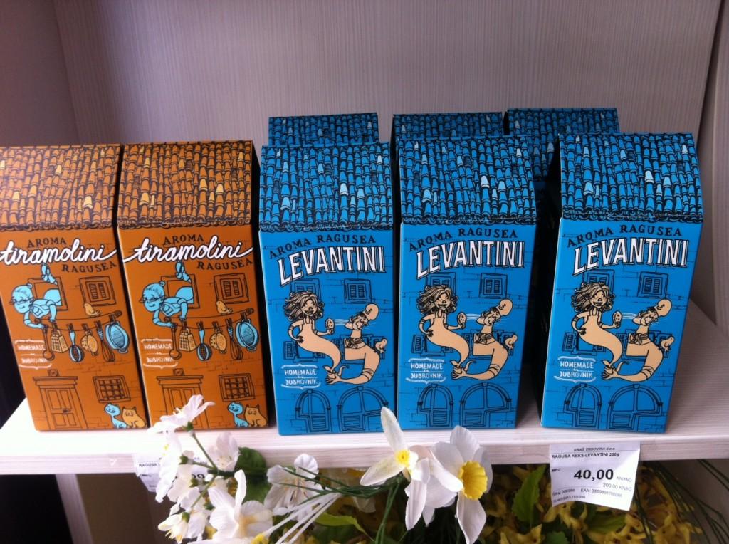 Keksverpackung in Dubrovnik.
